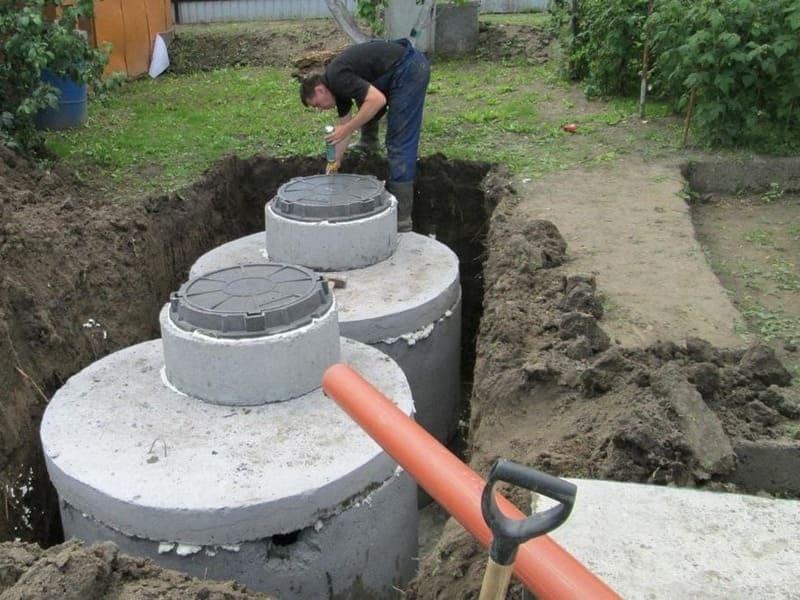 септик из бетонных колец в Одинцово
